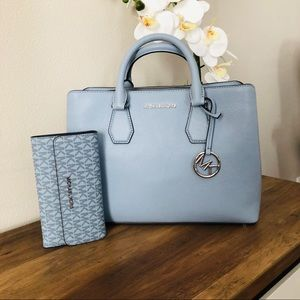 Michael kors Camille Satchel & Trifold Wallet NWT